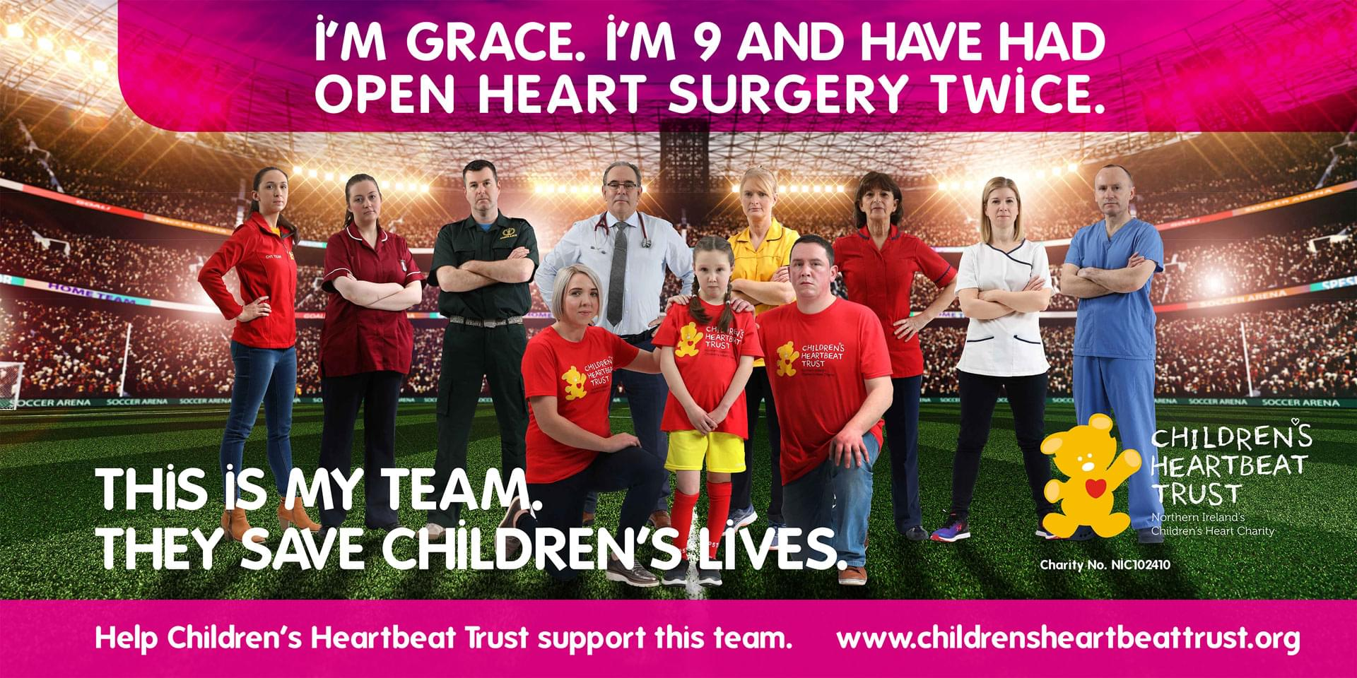 Help Children's Heartbeat trust support this team